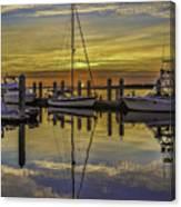 Setting Sun Reflections Canvas Print