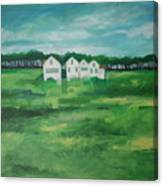 Settlement By Field Canvas Print