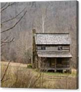 Settlers Cabin In Cades Cove Canvas Print