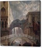 Seufzerbrucke Venice Canvas Print
