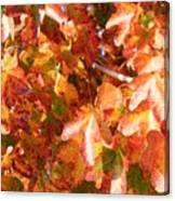 Seurat-like Fall Leaves Canvas Print