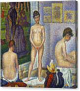 Seurat: Models, C1866 Canvas Print