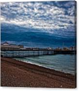 Seven Am On Brighton Seafront Canvas Print