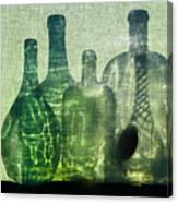 Seven Bottles Canvas Print