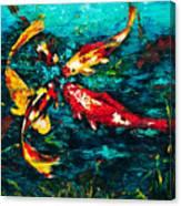 Seven Koi Canvas Print