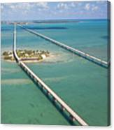 Seven Mile Bridge Crossing Pigeon Key Canvas Print