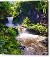 Seven Sacred Pools Maui Canvas Print