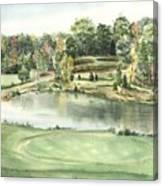 Seventeen Green The Trails Golf Course Canvas Print