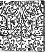 Seventeenth Century Parterre Pattern Design Canvas Print