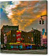 Seventh And Bleeker At Sunrise Nyc Canvas Print