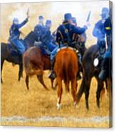 Seventh Cavalry In Action Canvas Print