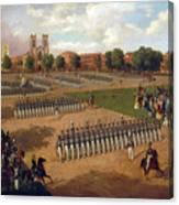 Seventh Regiment On Review. Washington Square. New York Canvas Print