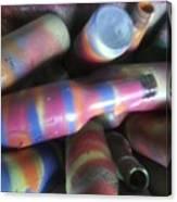 Seventies Bottles Canvas Print