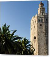 Seville - A View Of Torre Del Oro 2 Canvas Print