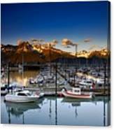 Seward Alaska Boat Marina Canvas Print