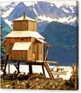 Seward Alaska House Of Stilts Canvas Print