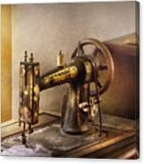 Sewing - A Black And White Sewing Machine  Canvas Print