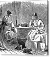 Sewing, 19th Century Canvas Print