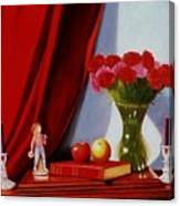 Sewing Carnations Canvas Print