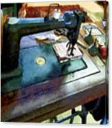 Sewing Machine With Sissors Canvas Print