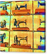 Sewing Machines Come To Life Canvas Print