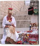 Sewing Souvenirs In Old Dubrovnik Canvas Print