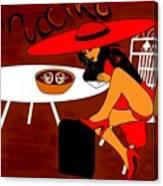 Sexy Cappuccino Canvas Print
