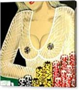 Sexy Poker Girl Canvas Print
