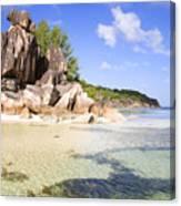 Seychelles Rocks Canvas Print