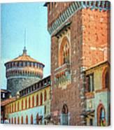 Sforza Castle Milan Italy Canvas Print