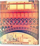 Shabby Chic Eiffel Tower Paris Canvas Print