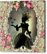 Shabby Fae Silhouette Freedom Canvas Print
