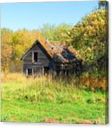 Shack In Fall Colours Canvas Print