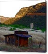 Shack In The Canyons Canvas Print