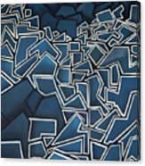 Shadderd Space Canvas Print