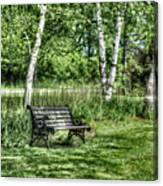 Shaded Bench Canvas Print