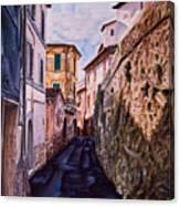 Shaded Street Canvas Print
