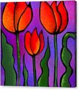 Shades Of Tulips Canvas Print