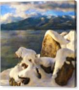 Shadow And Snow Canvas Print
