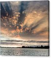Shadow Cloud Over Humboldt Bay Canvas Print