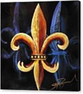 Shadow Fleur De Lis Canvas Print