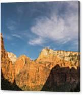 Shadow Mountain Zion National Park Utah Canvas Print