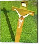 Shadow Of The Christ Canvas Print