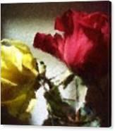 Shadow Roses Canvas Print