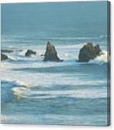 Shadowed Waves Canvas Print