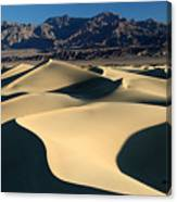Shadows And Light On The Sand Dunes Canvas Print