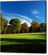Shadows And Trees Of The Afternoon - Monmouth Battlefield Park Canvas Print