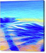 Shadows In The Surf Canvas Print