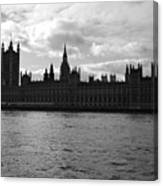 Shadows Of Parliament Canvas Print
