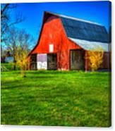 Shadows On The Barn Tennessee Farm Art Canvas Print
